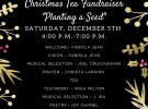 "Christmas Tea Fundraiser ""Planting a Seed"""