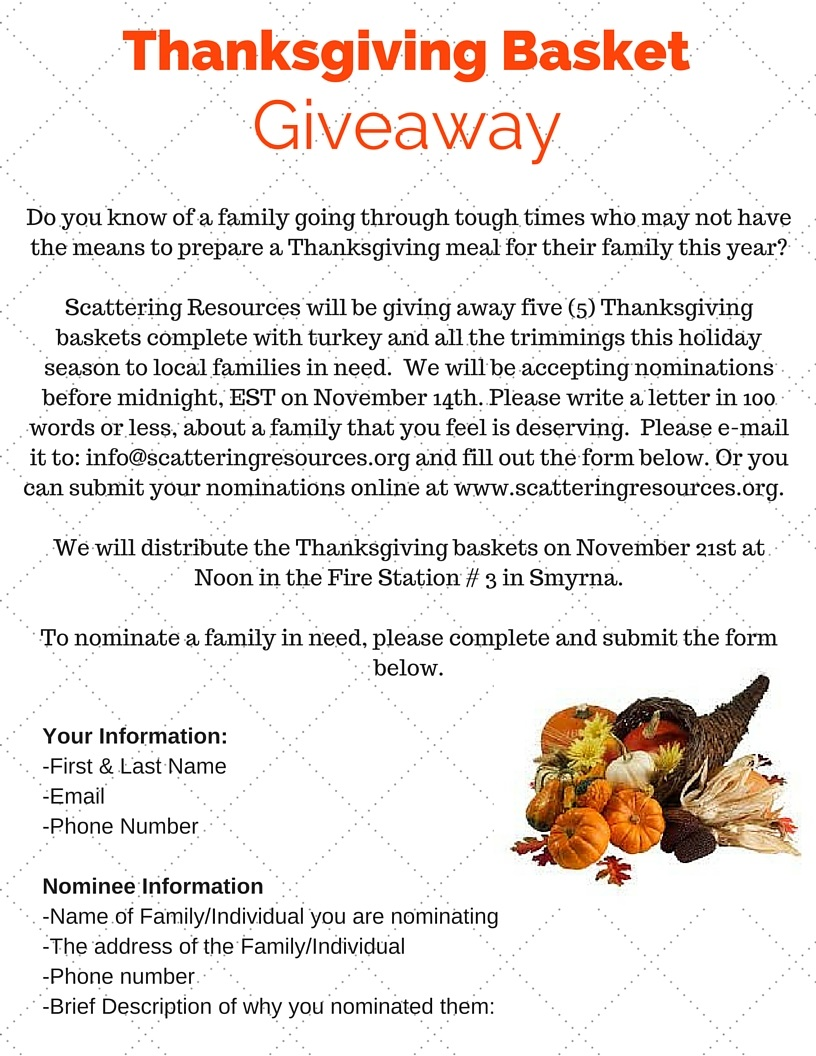 do you know a family in need this holiday season scattering resources